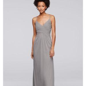 DAVIDS BRIDAL Bridesmaid Dress Mercury/ Gray